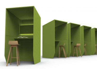 bureau cabine individuel pour confort acoustique