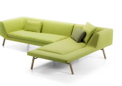 canapé et lougne coloris vert
