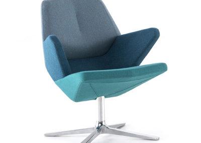 fauteuil design bleu inclinable ergonomique et détente