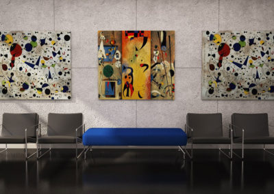 décoration murale dans salon contemporain